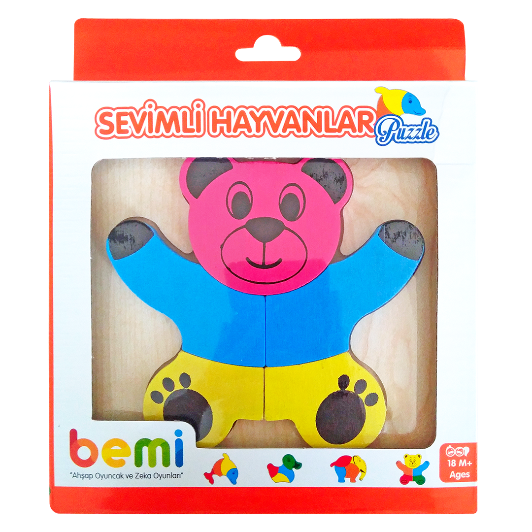 Wooden Cute Animals Puzzle