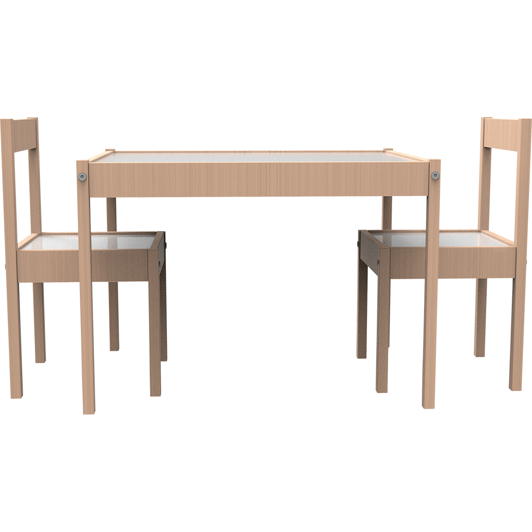 Montessori Wooden Table and Chair Set