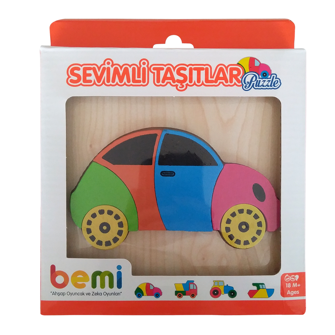 Wooden Cute Vehicles Puzzle